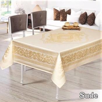 Тефлоновая скатерть на стол SUDE GOLD прямоугольная, Турция