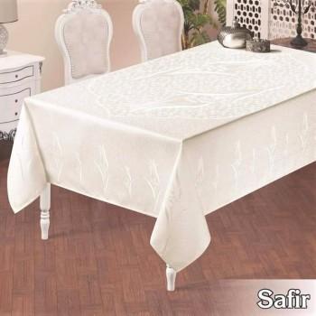 Тефлоновая скатерть на стол SAFIR BEYAZ прямоугольная, Турция