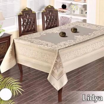 Тефлоновая скатерть на стол LIDYA БЕЛАЯ прямоугольная, Турция