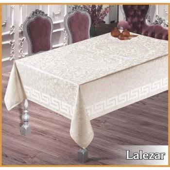 Тефлоновая скатерть на стол LAZERAR CREM прямоугольная, Турция