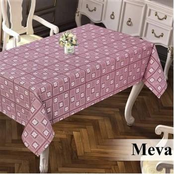 Тефлоновая скатерть на стол DELUXE MEVA BORDO прямоугольная, Турция