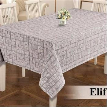 Тефлоновая скатерть на стол ELIF CAPPUCCINO прямоугольная, Турция