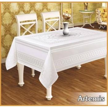 Тефлоновая скатерть на стол ARTEMIS GOLD прямоугольная, Турция
