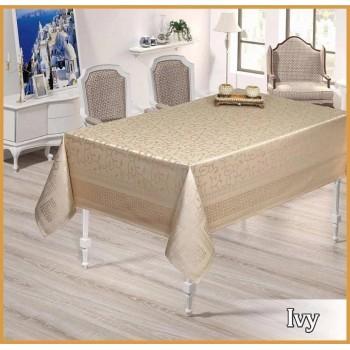 Тефлоновая скатерть на стол IVY GOLD прямоугольная, Турция