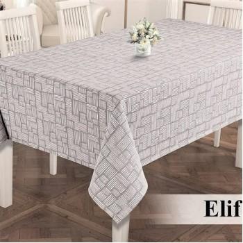 Тефлоновая (водоотталкивающая) скатерть на стол ELIF GRI