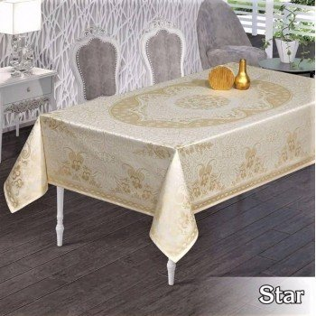 Тефлоновая скатерть на стол SUDE BEYAZ прямоугольная, Турция