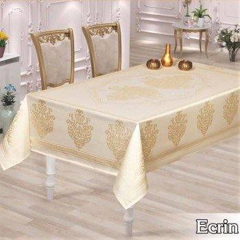 Тефлоновая (водоотталкивающая) скатерть на стол ECRIN BEYAZ