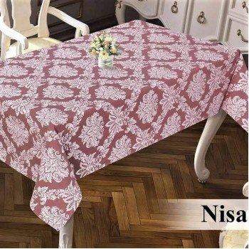 Тефлоновая скатерть на стол DELUXE BORDO 16019 Турция