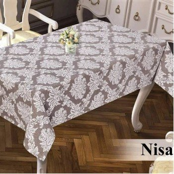 Тефлоновая скатерть на стол DELUXE CAPPUCCINO 16021 Турция