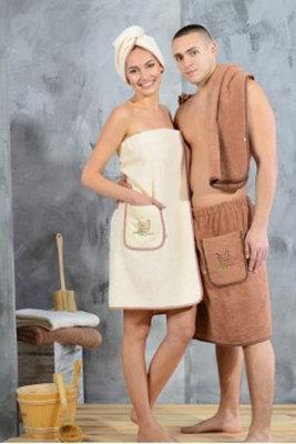 Полотенце для бани и сауны на липучке в ПаннаТекс