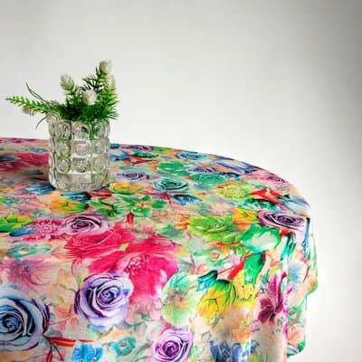Скатерть на овальный стол фото