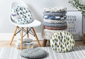 Подушка круглая на стул в интернет-магазине ПаннаТекс фото