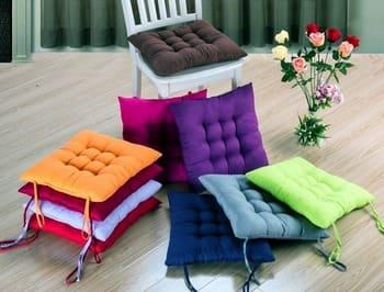Подушка на стул с завязками фото